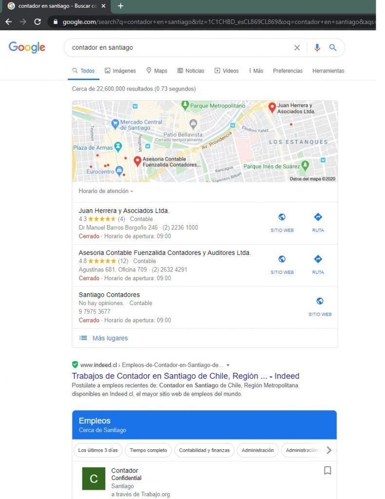 Busqueda de un servicio en una ciudad especifica, sin seo local