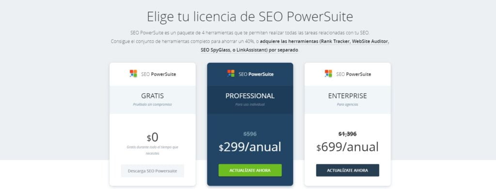 Seo power Suite tiene el mejor precio